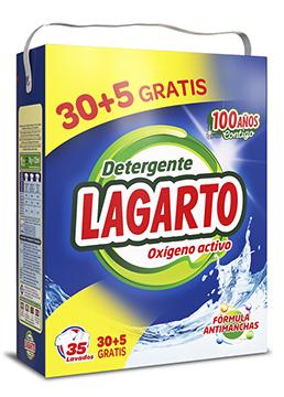 Detergente Lagarto Oxígeno Activo 35 Lavados