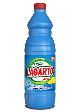Lagarto bleach with detergent blue