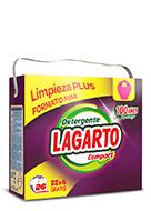 Detergente Lagarto Compact 26 Lavados