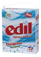 Detergente Edil Polvo Oxígeno Activo 40 Lavados