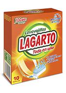 Lavavajillas Lagarto Todo en Uno 10 Ud.