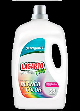 Detergente Lagarto Platinum Ropa Blanca y Color 50 Lavados
