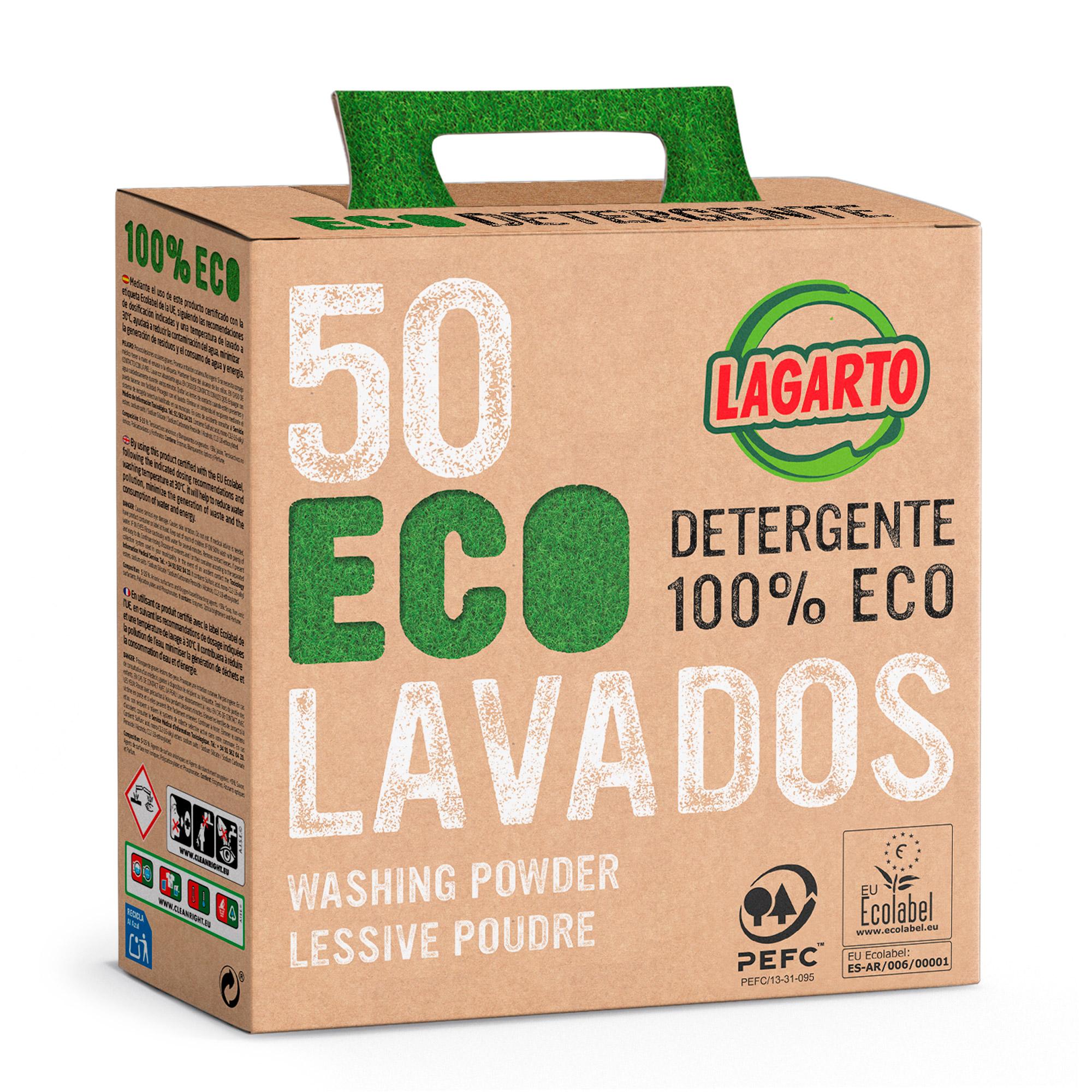 Detergente Lagarto 100% Eco 50 Lavados